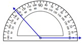 Measuring an angle with the protractor 1.3