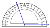 Measuring an angle with the protractor Worksheets Online Quiz 1.1