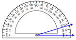 Measuring an angle with the protractor Worksheets Online Quiz 1.3
