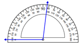 Measuring an angle with the protractor Worksheets Online Quiz 1.4