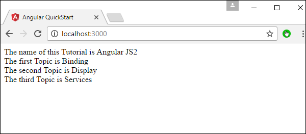 Angular 2 - Data Display