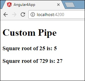 Angular 4 - Pipes - Tutorialspoint