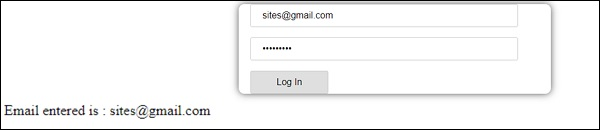 Email Enterd Login