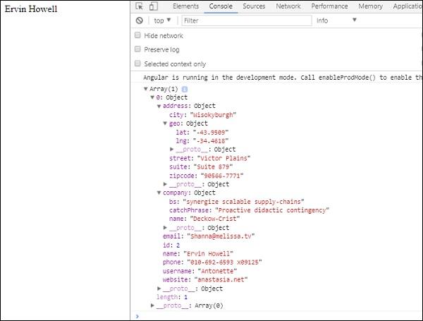 Angular 4 - Http Service - Tutorialspoint