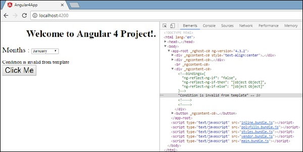 Angular 4 Templates Tutorialspoint