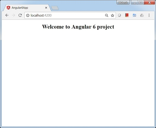 Angular 6 - Quick Guide - Tutorialspoint