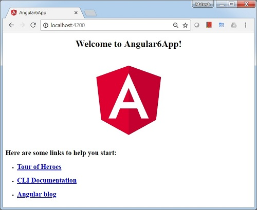 Angular 6 - Project Setup - Tutorialspoint