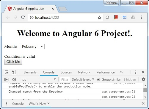Angular 6 - Event Binding - Tutorialspoint