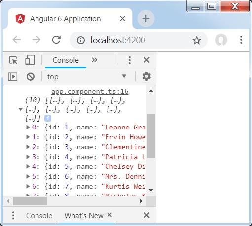 Angular 6 - Http Client - Tutorialspoint