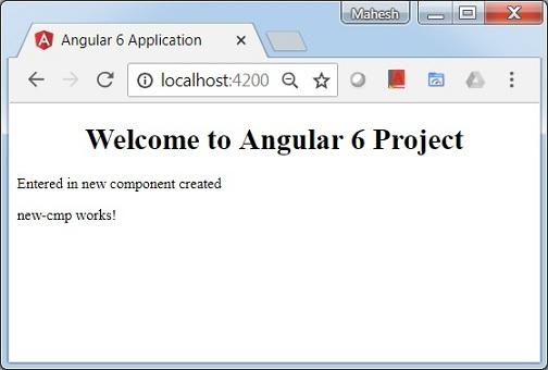 Angular 6 - Components - Tutorialspoint