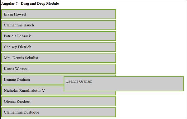 Angular7 - Materials/CDK-Drag and Drop