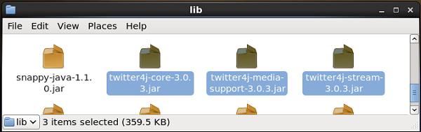 Twitter Jar Files