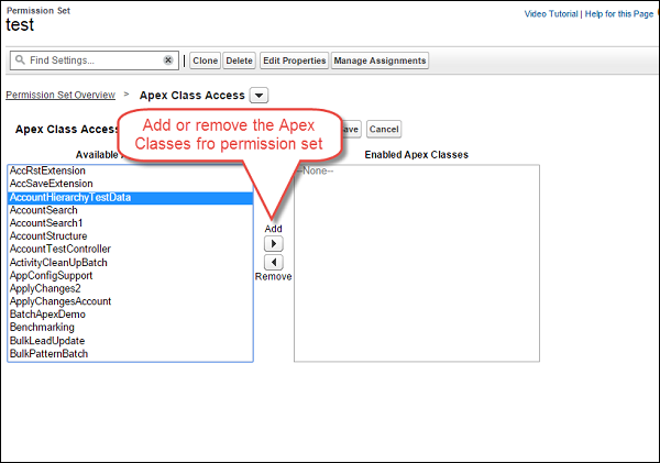Setting Apex Class Security From Permissionset Step5
