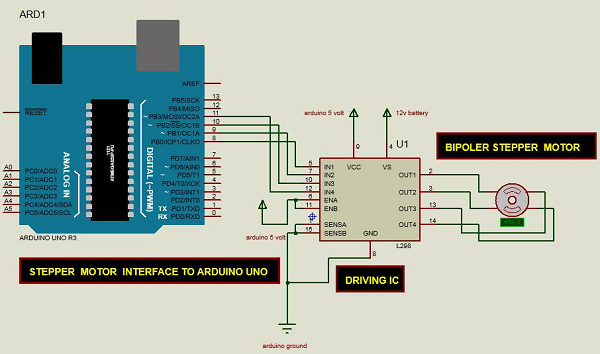 Arduino stepper motor serial control in library makerewards for Arduino controlled stepper motor