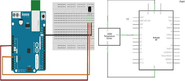 Arduino - Temperature Sensor - Tutorialspoint