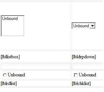 List box control