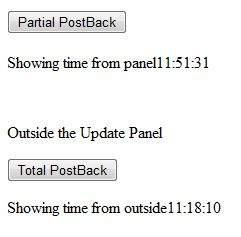 update panel