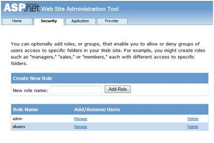 Web Application Administration