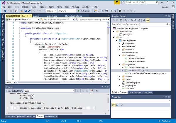 ASP NET Core - Identity Migrations