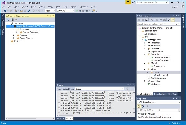 View SQL Server Object Explorer