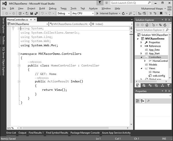 Editing in Visual Studio