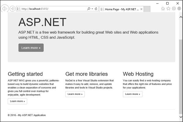 ASP NET MVC - Bootstrap - Tutorialspoint