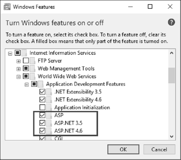 Open Turn Windows Features