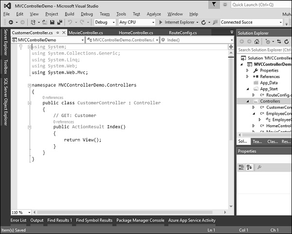 ASP NET MVC - Quick Guide - Tutorialspoint