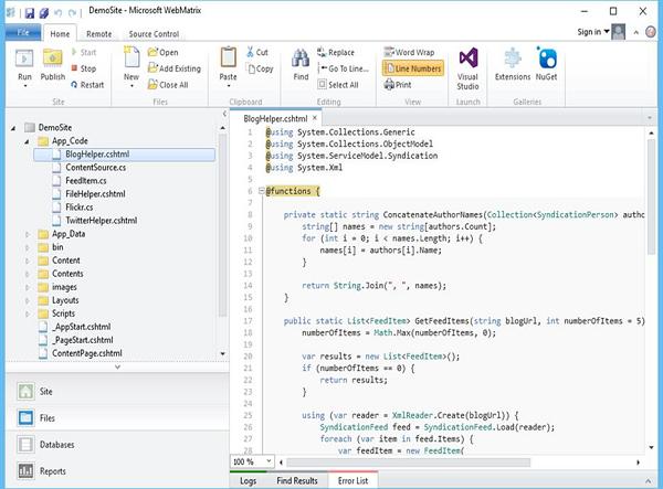 ASP NET WP - Project Folder Structure - Tutorialspoint