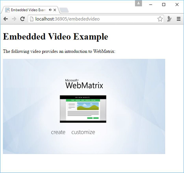 Embedded Video Example