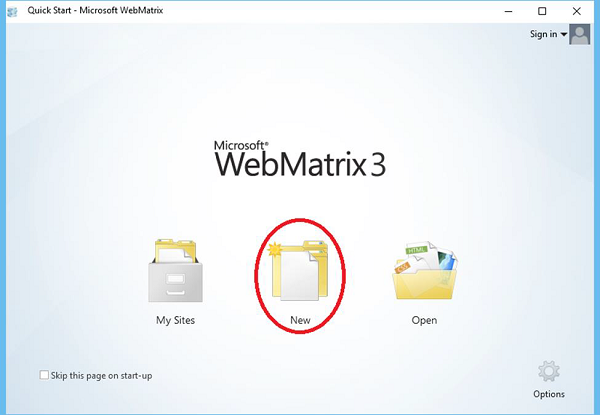 Project WebMatrix