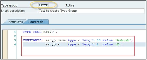 Type Group ABAP