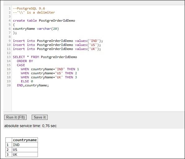 PostgreSQL Example