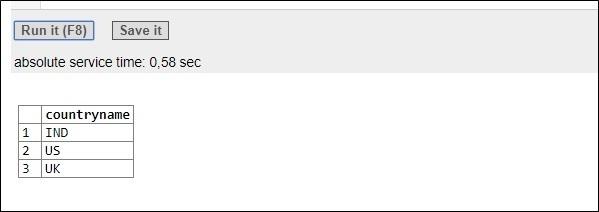 PostgreSQL Output