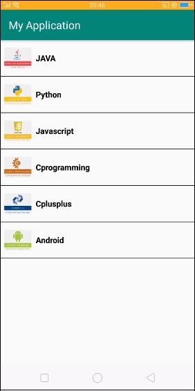Default Output Screen