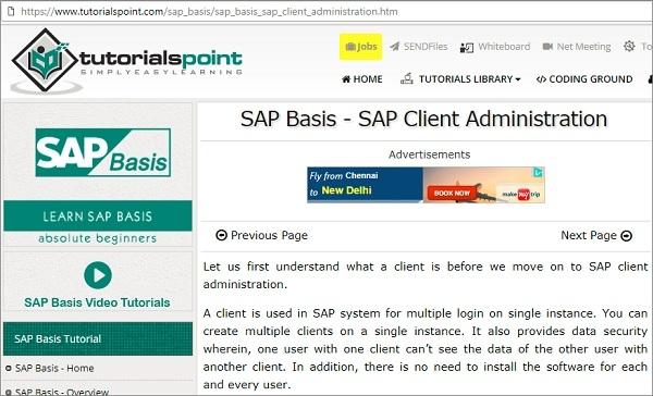 SAP Client Administration