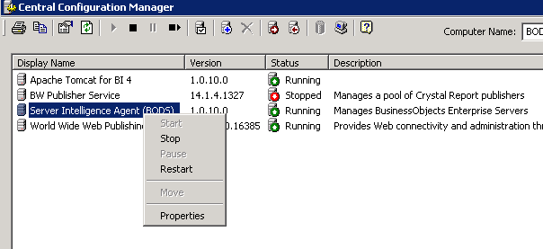 Central Configuration Manager