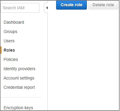 Create Role Dashboard