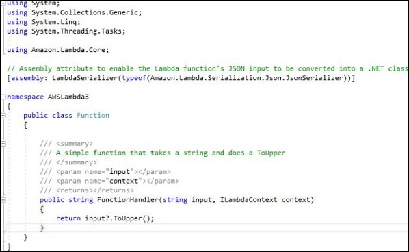 Csharp Function