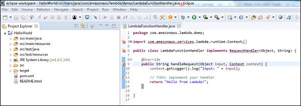 AWS Lambda – Function in Java - Tutorialspoint