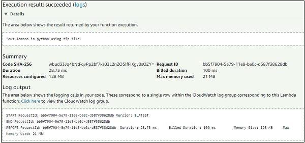 AWS Lambda – Function in Python - Tutorialspoint