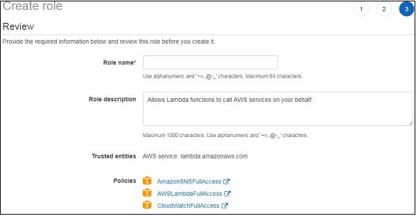 Using Lambda Function with Amazon SNS - Tutorialspoint