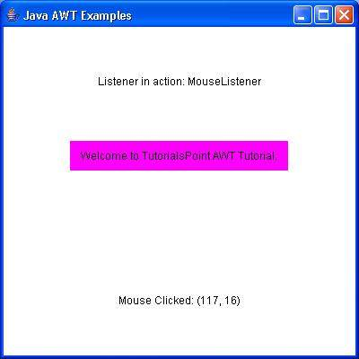 AWT MouseListener Interface