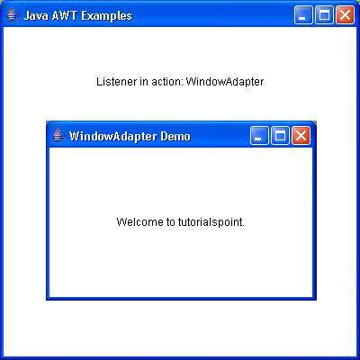 AWT WindowAdapter