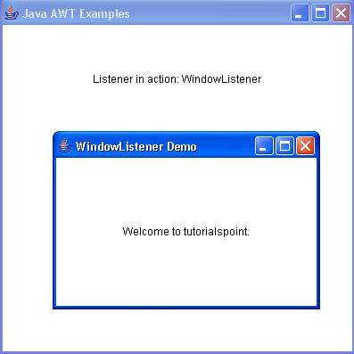 AWT WindowListener