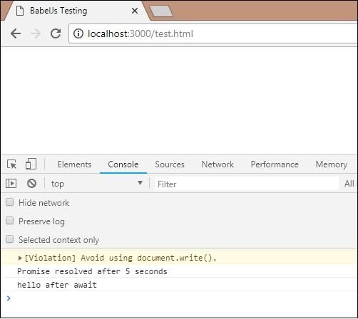 BabelJS - Quick Guide - Tutorialspoint