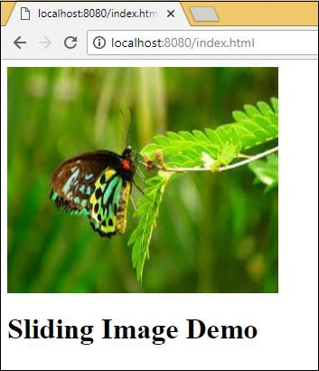 Sliding Image Chrome
