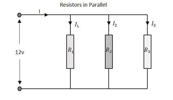 basic electronics circuit connections in resistors