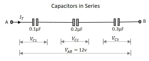 Basic Electronics Circuit Connections in Capacitors