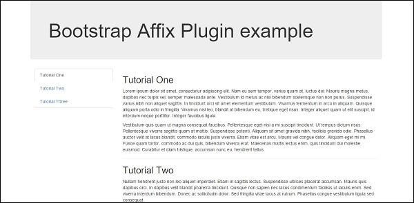 Affix Plugin Data Attributes Demo